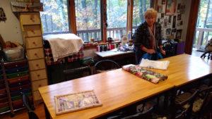 Susan Rock in her studio